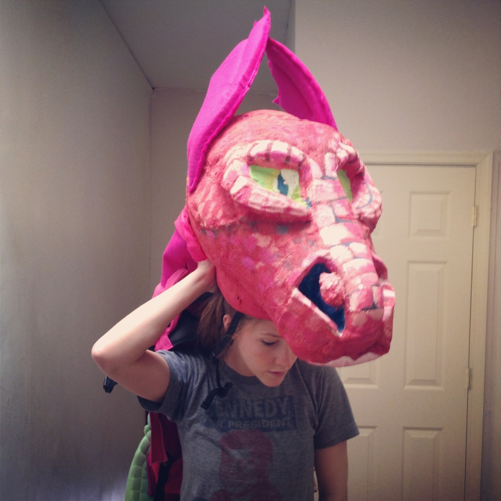 close & Dragon Costume Sculpture for Shrek! The Musical | Abernathy Parade